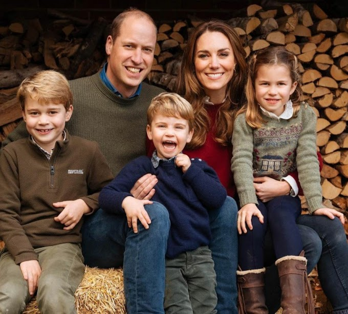 Prince William and Kate Middleton share new image of their family which features on their 2020 Christmas card