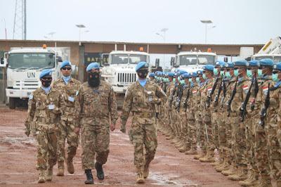 Transfer of Authority Komandan Satgas Batalyon Gerak Cepat di Kongo