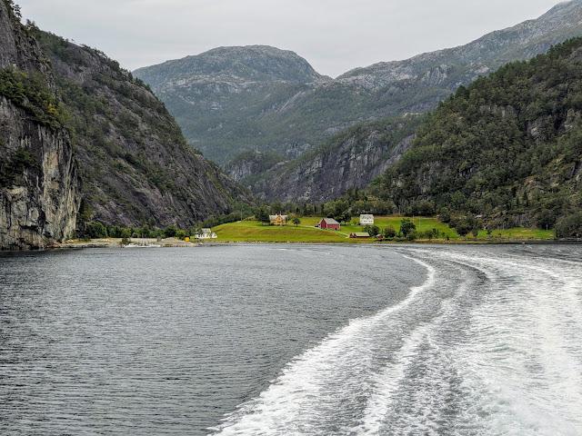 Views of Mostraumen on a Osterfjorden cruise near Bergen Norway