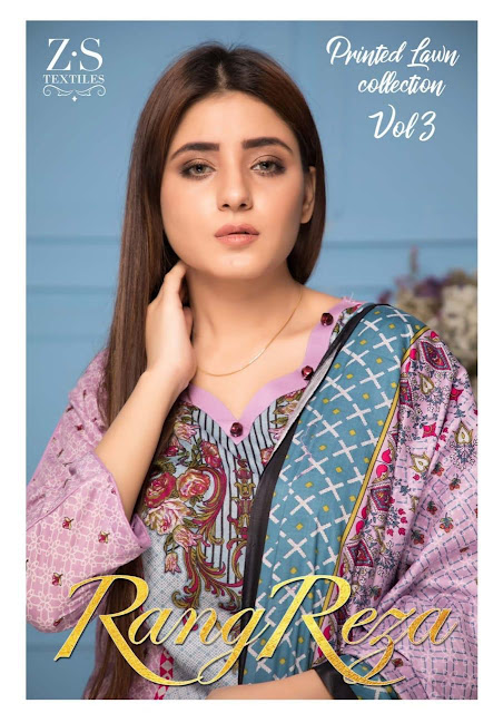 Original lawn Pakistani Suits | Z.S textile Rang reza lawn vol 3