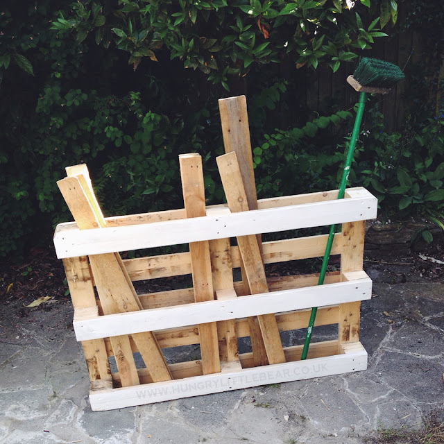 quick and easy pallet garage garden shed storage solution