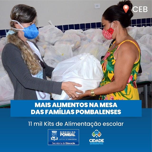 130 toneladas de alimentos são distribuídas entre famílias de estudantes em Ribeira do Pombal