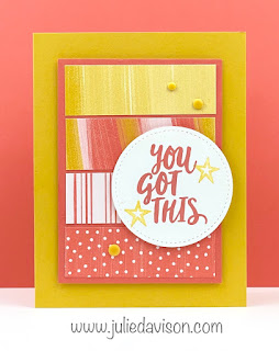 Stampin' Up! Ridiculously Awesome + Playing with Patterns ~ www.juliedavison.com ~ VIDEO + card measurements #stampinup