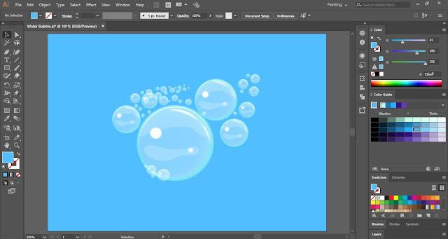 Water Bubble in Adobe Illustrator