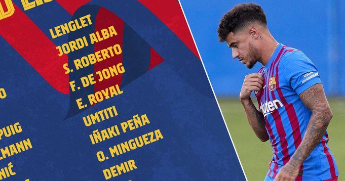 Barca name 23-man squad for Getafe clash with Ter Stegen, Coutinho back