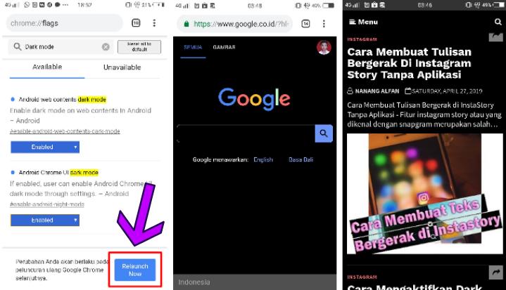 2 Cara Mengaktifkan Dark Mode/Mode Malam Di Google Chrome