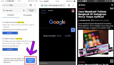 2 Cara Mengaktifkan Dark Mode/Mode Malam Di Google Chrome Android