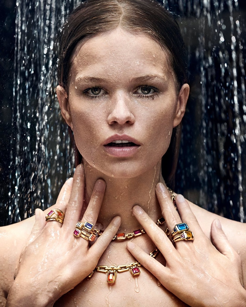 Anna Ewers poses in Novella collection from David Yurman