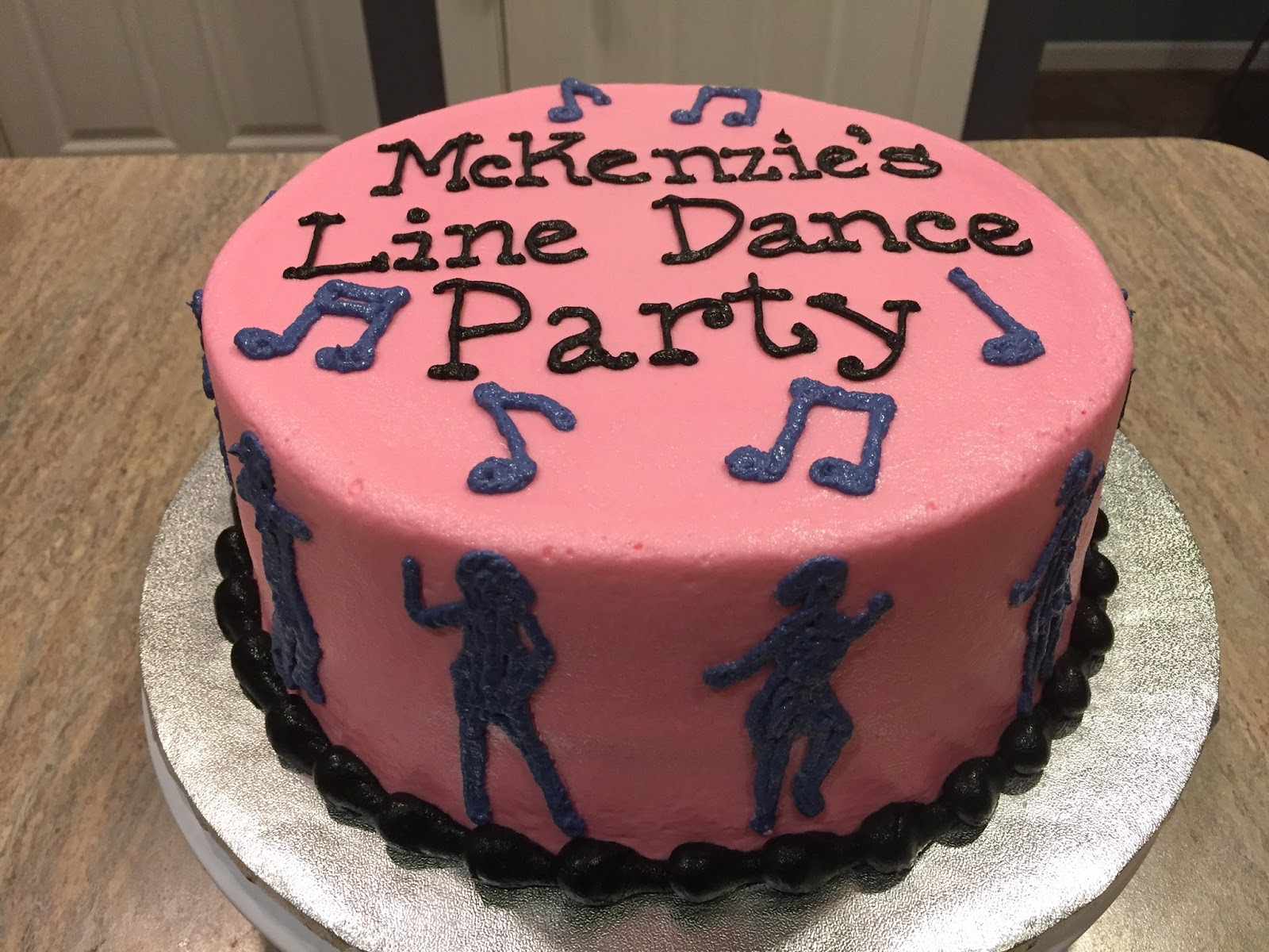 A Counselors Confections Line Dance Party Birthday Cake