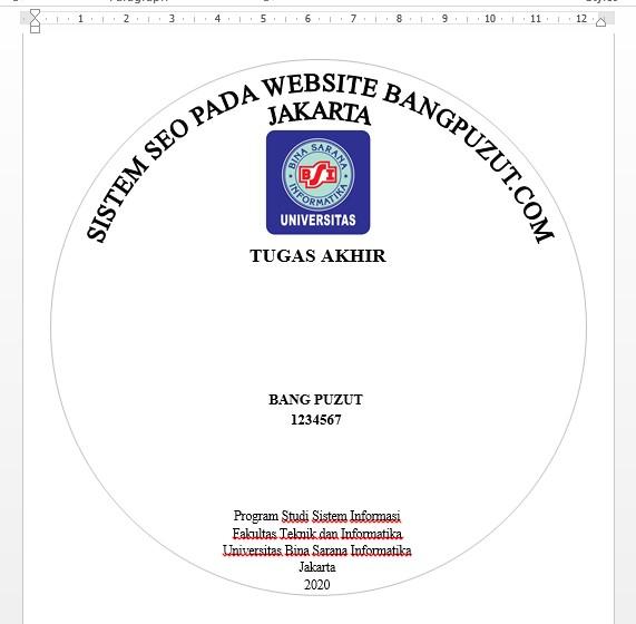 Download File Stiker Cd Skripsi Bsi Siap Cetak Universitas Bina Sarana Informatika Bang Puzut