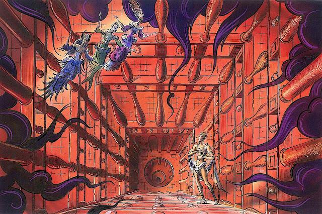 a Maurice Vellekoop illustration of a strange theater stage set