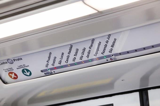 Linha 15-Prata do Monotrilho ira chegar até Cidade Tiradentes, promete João Doria