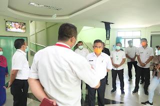 Wali Kota Tarakan Meninjau Pelaksanaan Kerjasama Antara BPJS Kesehatan Dengan RSU Kota Tarakan - Tarakan Info