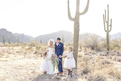 family photo at az white tank mountains wedding