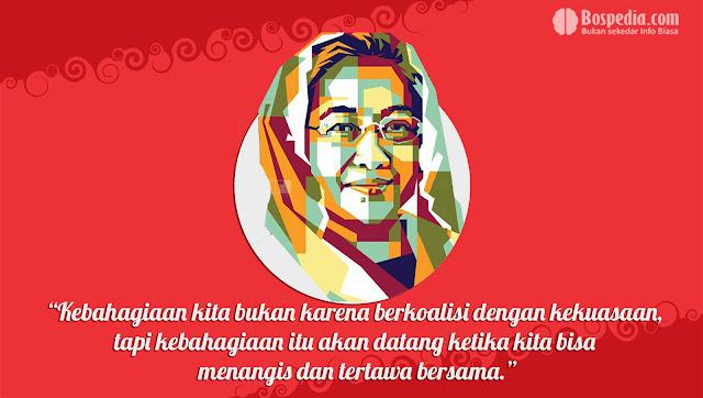 Kartu kata kata Kemerdekaan Presiden Megawati Soekarnoputri