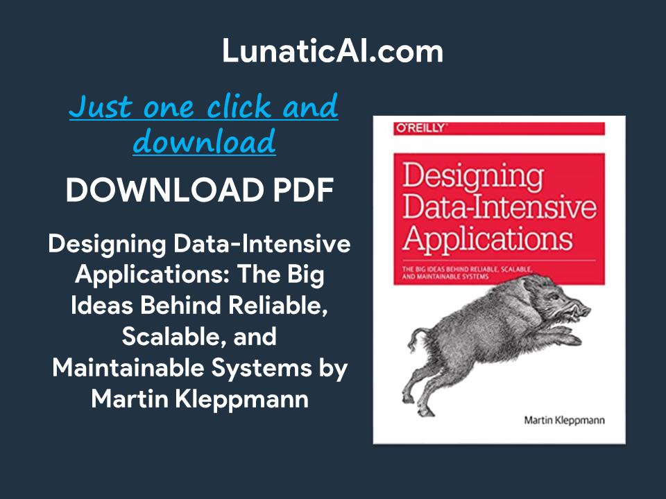 designing data-intensive applications ebook