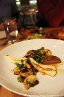 Wild Mushrooms, Epazote, Roasted Pear, Chimichurri, Grilled Halloumi at Gardenia