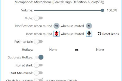 Matikan suara mikrofon di seluruh sistem dengan tombol pintas global pada Windows