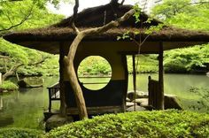 What details to consider in a Japanese style garden design and what are the main design elements