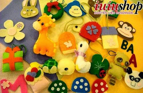 Đủ bộ đồ chơi cho các bé yêu từ vải dạ nhé