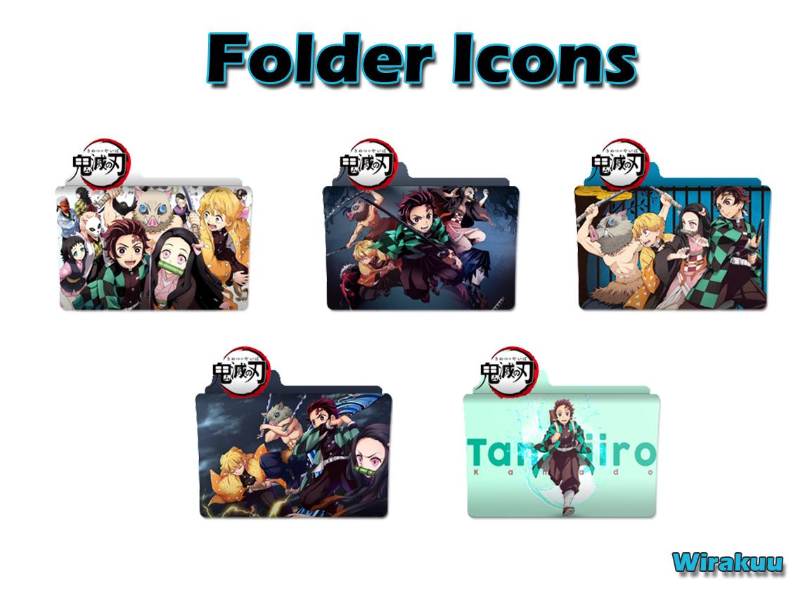 Download Folder Icons Anime Kimetsu no Yaiba