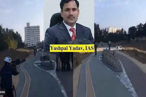 ias-yashpal-yadav-transform-gurugram-drain-into-attractive-track-news