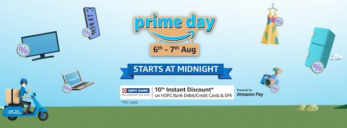 6th- 7th Aug  Amazon Prime Day Sale 2020 10% Discount On HDFC Cards & EMI