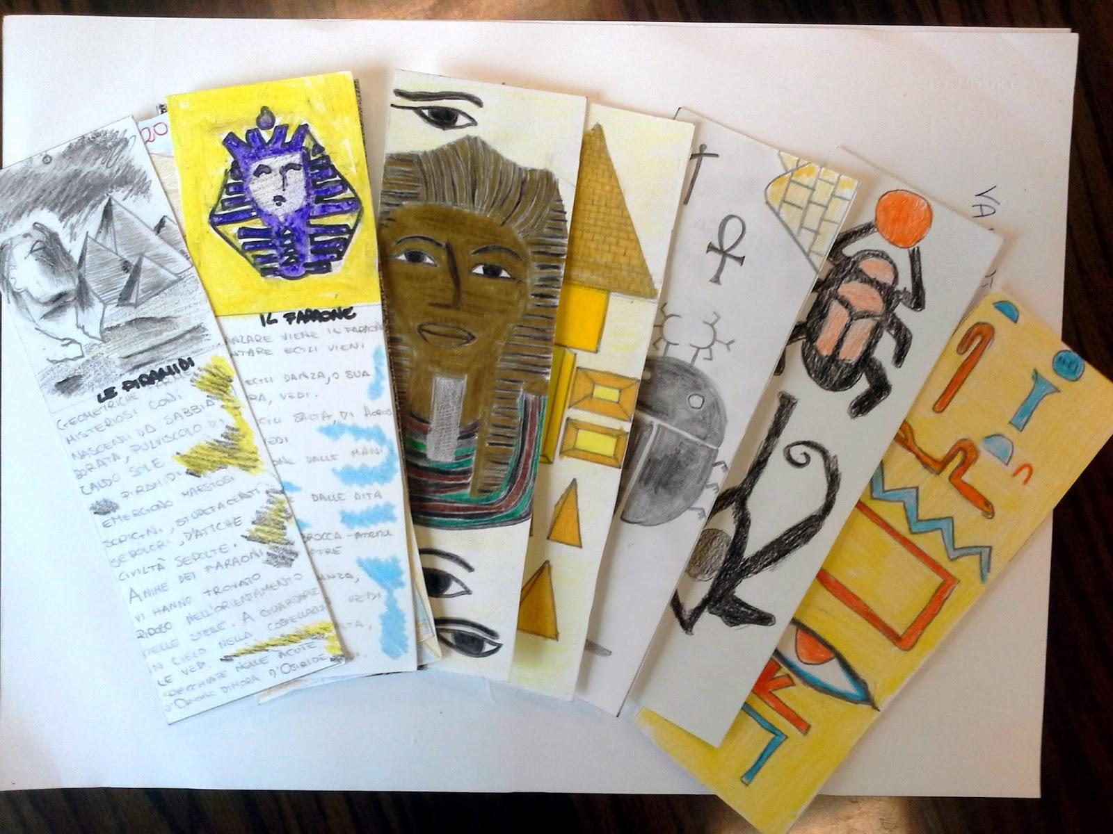 Due ore di arte fatti da voi segnalibri egizi in 1 c for Arte fai da te