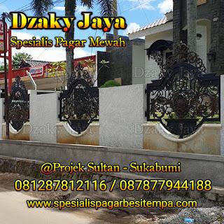 Contoh Pagar Klasik, Pagar Besi Tempa Klasik yang terpasang di Sukabumi.