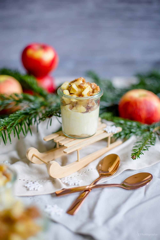 14 Türchen Blogger Advenskalender Apfel Spekulatius Dessert Mit