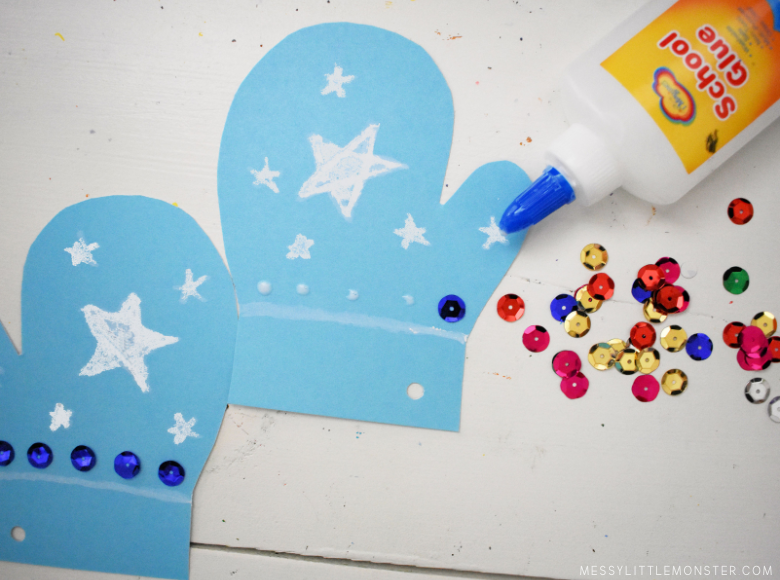 mitten craft for toddlers and preschoolers