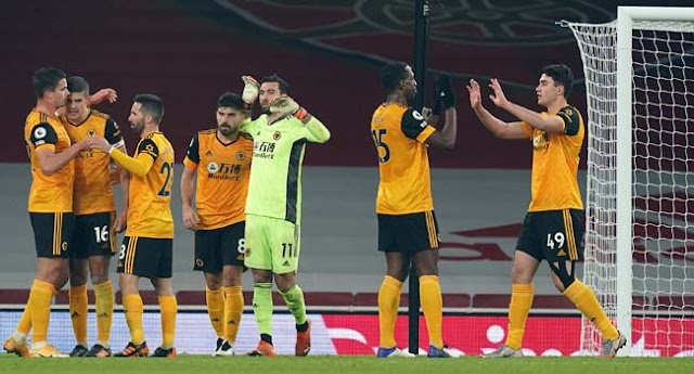 Wolves Beat Arsenal, Condemn Arteta's Side To Third Consecutive Home Defeat-AFP