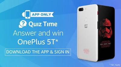 {Answers} Amazon OnePlus 5T Quiz Answers - Win OnePlus 5T