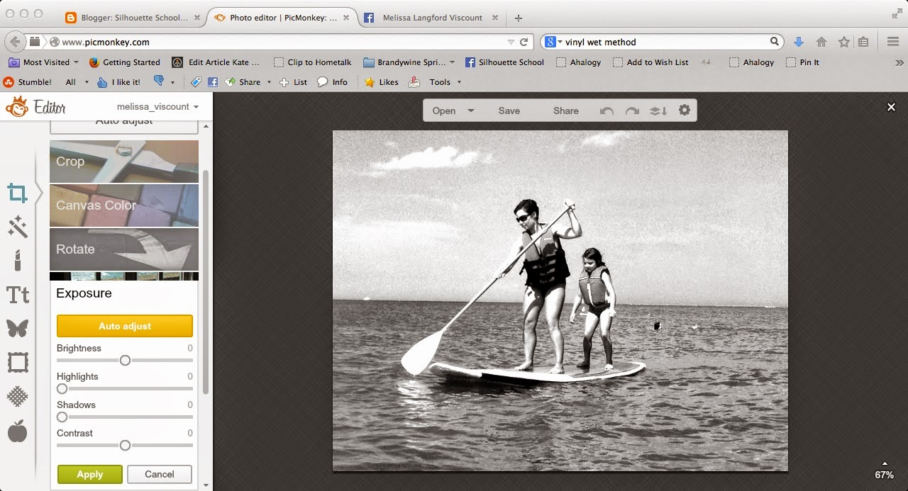 Silhouette Studio, trace, photo, Silhouette tutorial, PicMonkey
