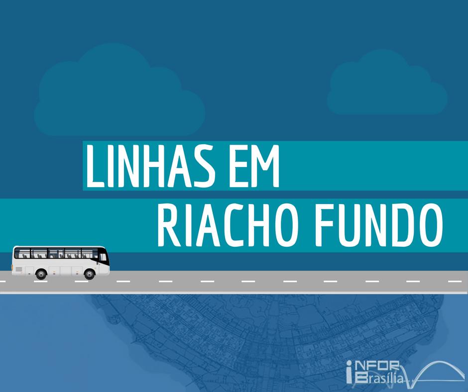 Horário de ônibus das linhas do Riacho Fundo