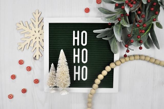 Christmas Letter Board by Jen Gallacher for www.jengallacher.com #letterboard #jengallacher