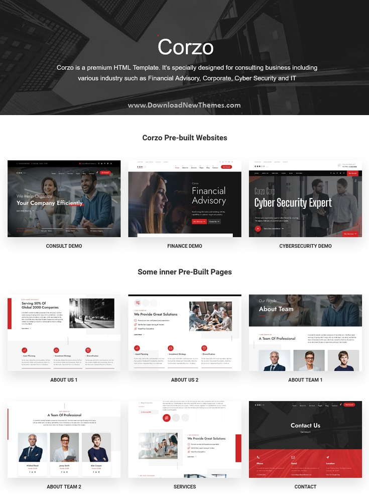 Consulting & Finance Bootstrap Template
