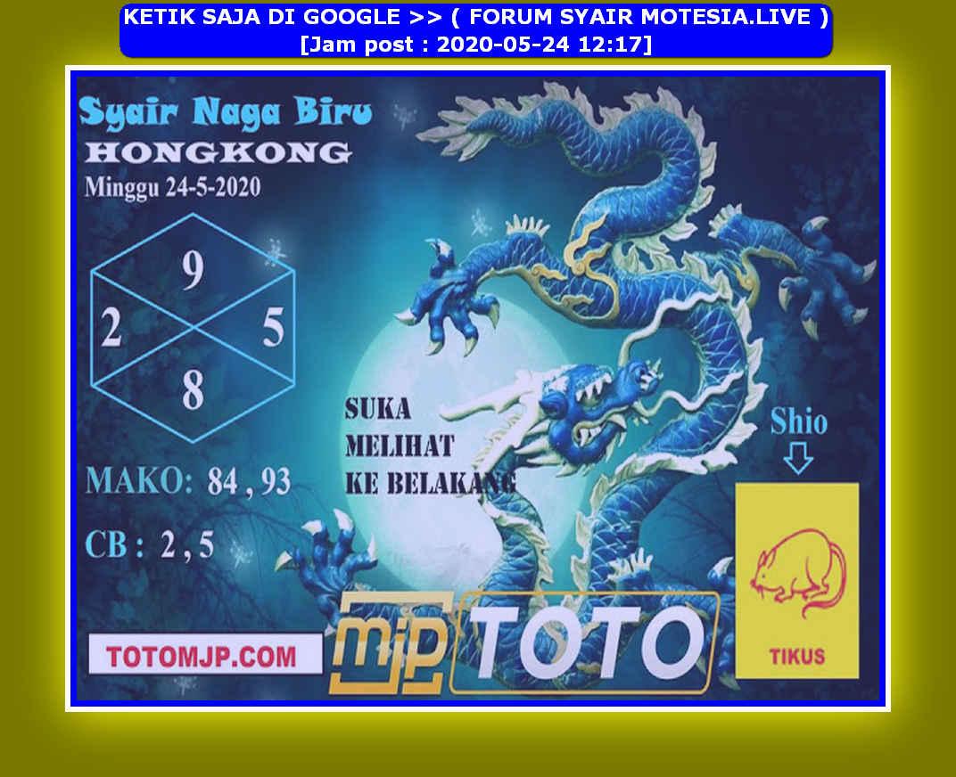 Kode syair Hongkong Minggu 24 Mei 2020 126