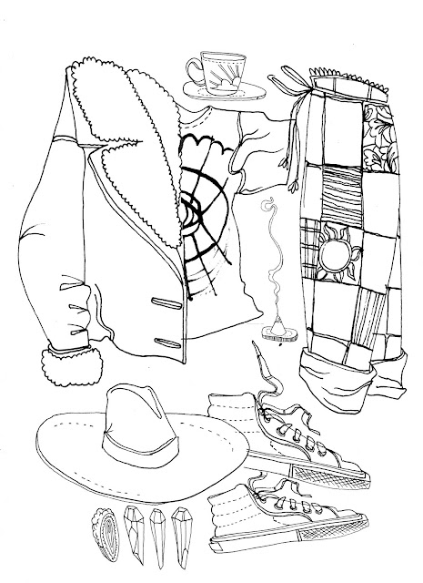 Brighton Street Style Fashion Illustration Drawing