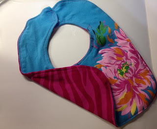 floral and zebra tshirt bib