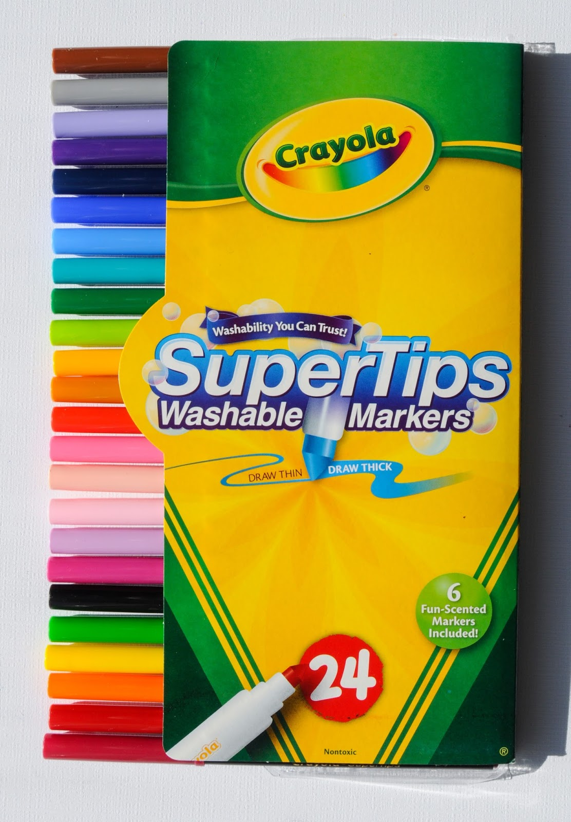 crayola super tips washable markers what s inside the box jenny s