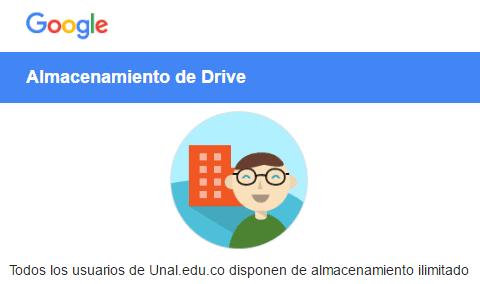 Almacenamiento ilimitado en Google Drive
