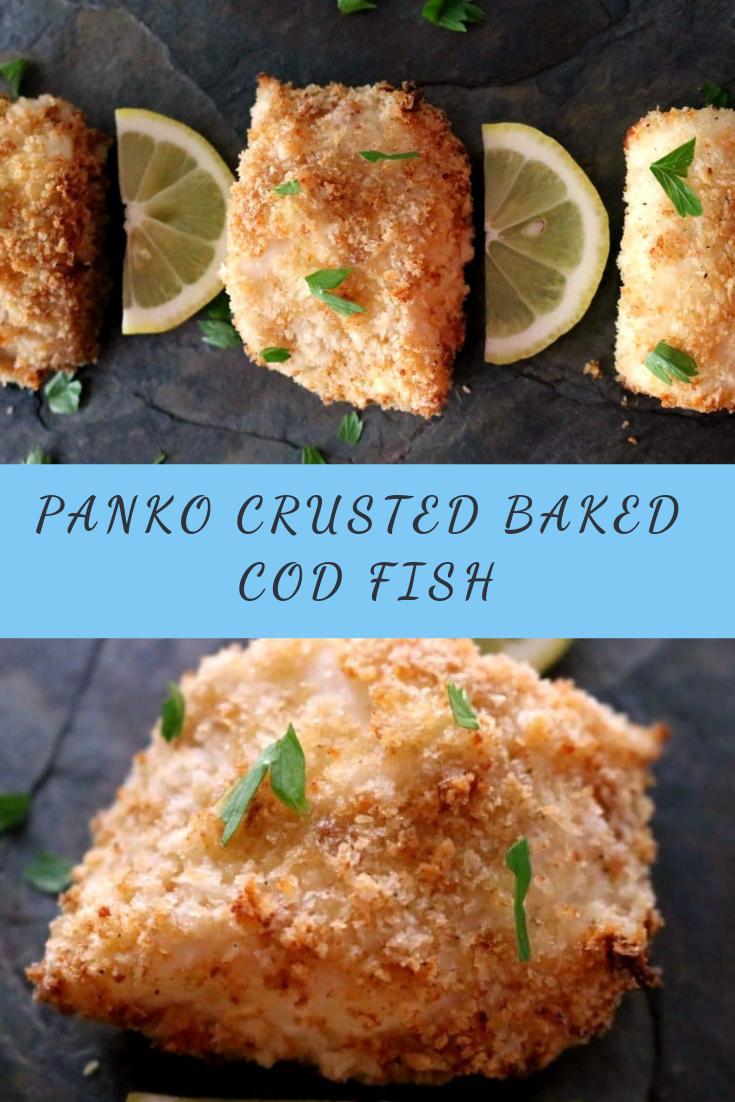 PANKO CRUSTED BAKED COD FISH RECIPE
