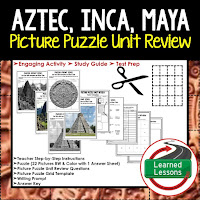 Aztec, Inca, Maya, World History Test Prep, World History Test Review, World History Study Guide, World History Games, Ancient World History Bundle, Ancient World History Curriculum