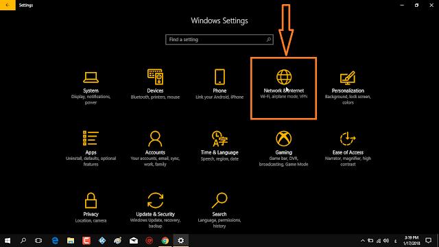 تحويل الكمبيوتر إلى راوتر موزع للأنترنت بدون برمج في الويندوز 10