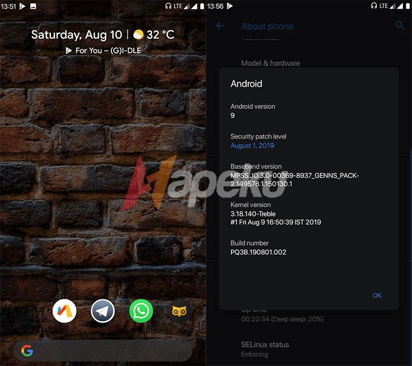 Screenshot ROM Havoc OS di Xiaomi Redmi 5A