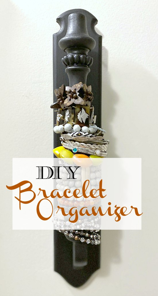 DIY Closet organization for bracelets and necklaces