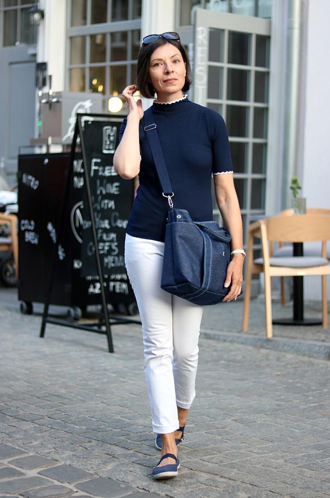 białe jeansy stylizacje damskie