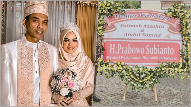 Karangan Bunga Prabowo hingga Elite PKS di Resepsi Nikah UAS