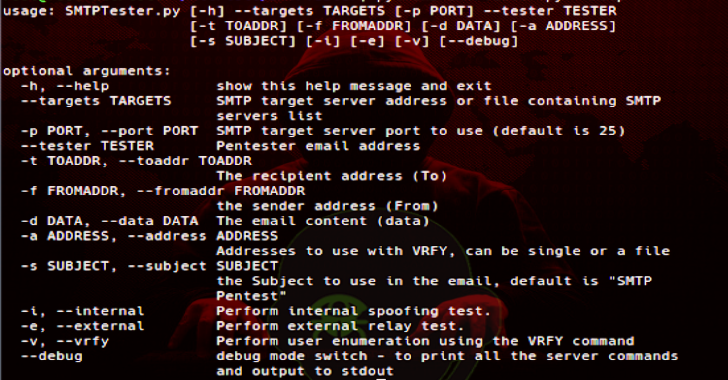 SMTPTester : Small Python3 Tool To Check Common Vulnerabilities In SMTP Servers